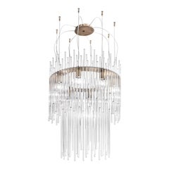 Diadema Chandelier 60 in Crystal by Vistosi