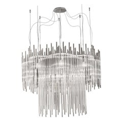 Diadema Chandelier C-2 in Crystal by Vistosi