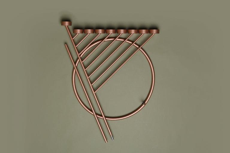 DIAGONAL candleholde 130cm, minimalistic Hanukkah menorah by Ivan Voitovych For Sale 1