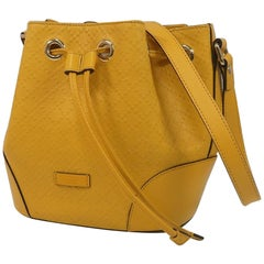 Diamante  purse  Womens  shoulder bag 354229  yellow Leather