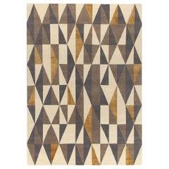 Diamantina Yellow and Gray Carpet by Gio Ponti
