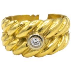 Diamond .05 Carat 18 Karat Yellow Gold Ring