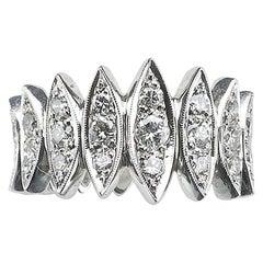 Diamond 1.00 Carat Platinum Eternity Ring