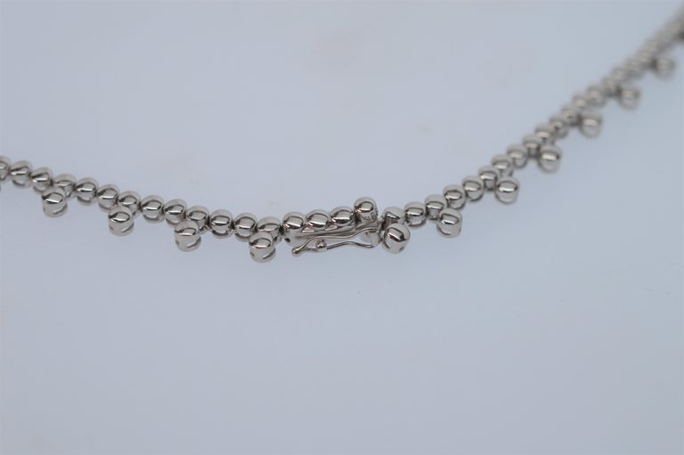Women's Diamond & 14K White Gold Collar Necklace For Sale
