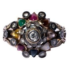 Diamond 15 Carat Multi Gem Ring