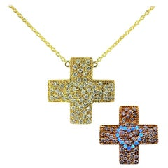 Diamond 18 Carat Yellow Gold Pendant Neckclace Love Heart  DIAMONDS in the SKY