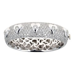 Diamond 18 Karat Gold Bangle