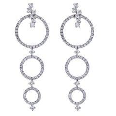 Diamond 18 Karat Gold Earrings