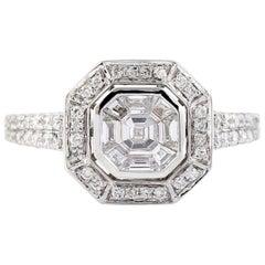 Diamond 18 Karat Gold Engagement Ring