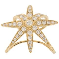 Diamond 18 Karat Gold Etoile Ear Cuff