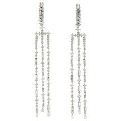 Diamond 18 Karat Gold Fringe Earrings