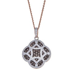 1.8 TCW White Chocolate diamond Pendant Necklace 18k gold by Gregg Ruth In Stock
