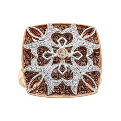1.92 TCW White Chocolate Diamond Ring in 18k Rose Gold by Gregg Ruth In Stock