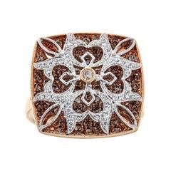Diamond 18 Karat Gold Gregg Ruth Ring