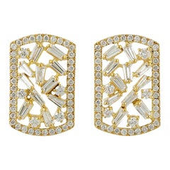 Diamond 18 Karat Gold Stud Earrings