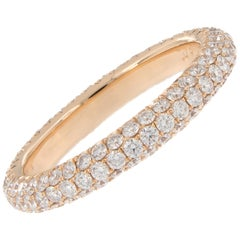 Diamond 18 Karat Rose Gold Band Ring
