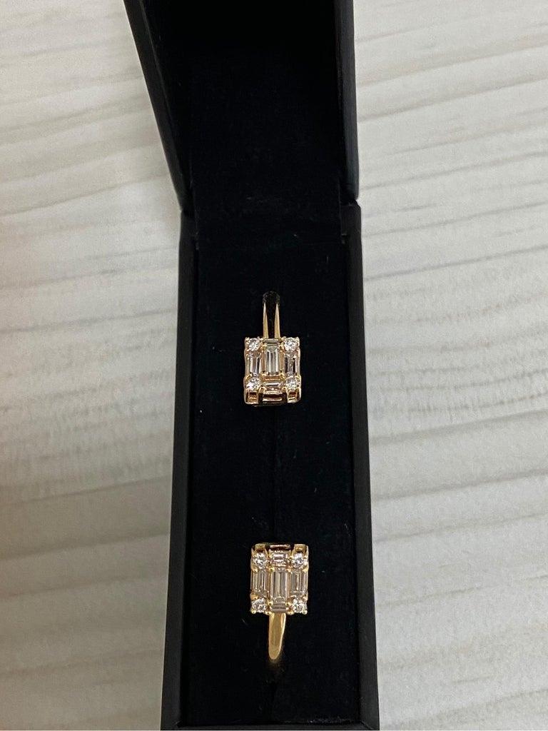 Contemporary Diamond 18 Karat Rose Gold Bangle Bracelet For Sale