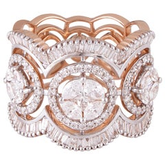 Diamond 18 Karat Rose Gold Cocktail Ring