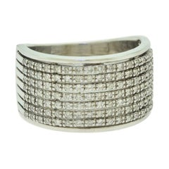 Diamond 18 Karat White Gold Band Ring