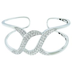 Diamond 18 Karat White Gold Bangle
