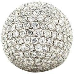 Diamond 18 Karat White Gold Cocktail Ring