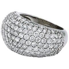 Diamond 18 Karat White Gold Dome Ring