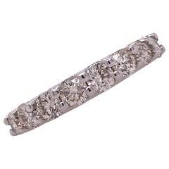 Diamond 18 Karat White Gold Wedding Anniversary Band Ring