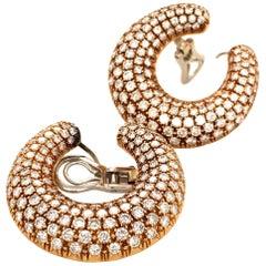 Diamond 18 Karat Yellow Gold Earclips