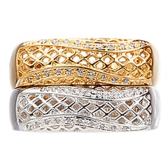 Yemyungji Diamond 18 Karat Yellow Gold White Gold Rings Set