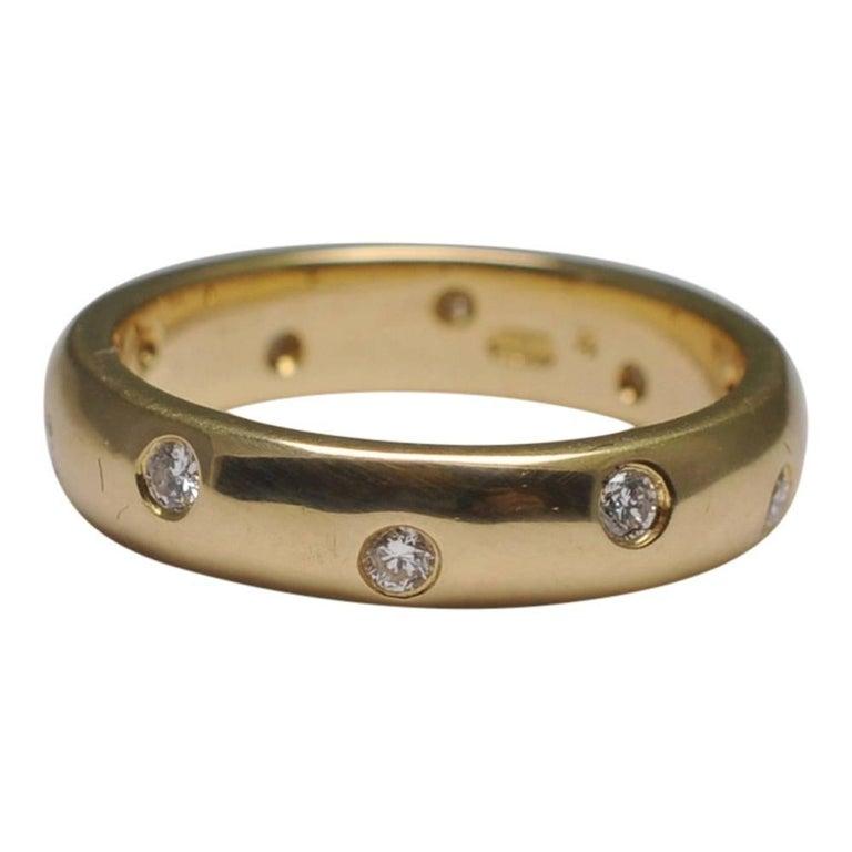 Women S Diamond 18 Carat Yellow Gold Wedding Band For