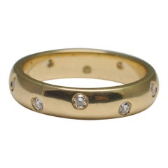 Diamond 18 Carat Yellow Gold Wedding Band
