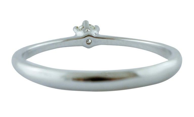 Modern Diamond, 18 Karat White Gold Solitaire/ Engagement Ring For Sale