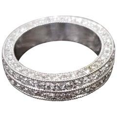 Diamond 2-Row Pave Eternity Ring