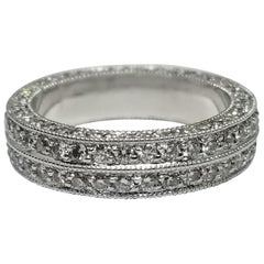 Diamond 2-Row Pave Eternity Ring Total Weight 2.10 Carat