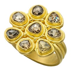 Diamant 22 Karat Gold Gelbgold Ring