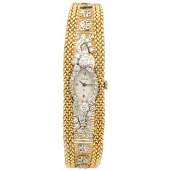 Diamond 3.5 Carat Hamilton Timepiece 14 Karat Yellow Gold