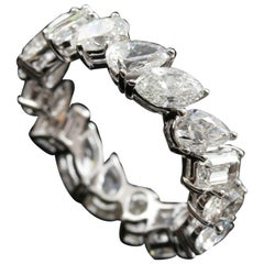 Diamond 4 Shape 1/3 Carat Eternity Ring in 18 Karat Gold