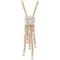 Diamond 5-Strand 18 Karat Tassel Necklace