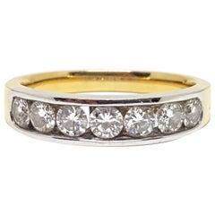 Diamond 7-Stone Gold Memory Ring