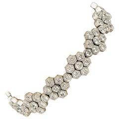Diamant 7.41 Karat Gesamtgewicht Art Deco-Stil Tennisarmband 18 Karat