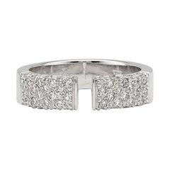 Diamond and 18 Karat White Gold Ring by Gubelin
