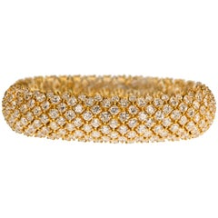 Diamond and 18k Gold Bracelet