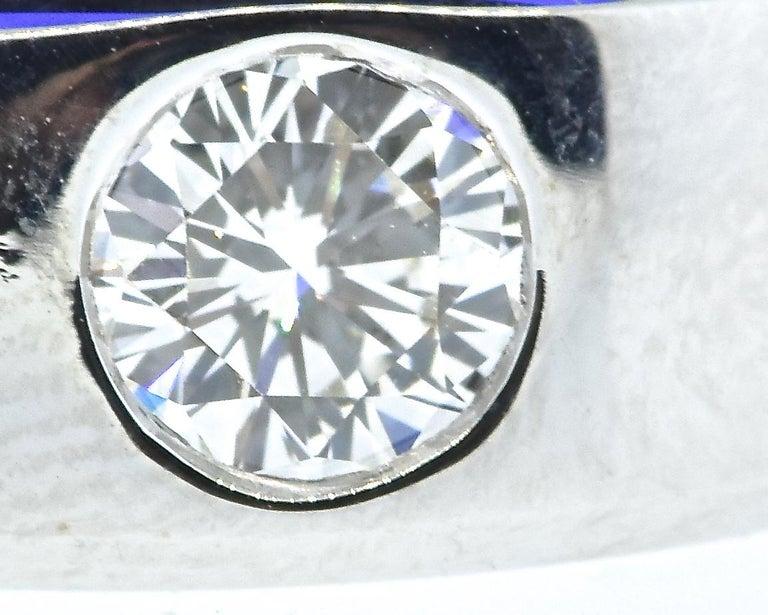 Contemporary Diamond and 18 Karat White Gold Vintage Ring, circa 1960