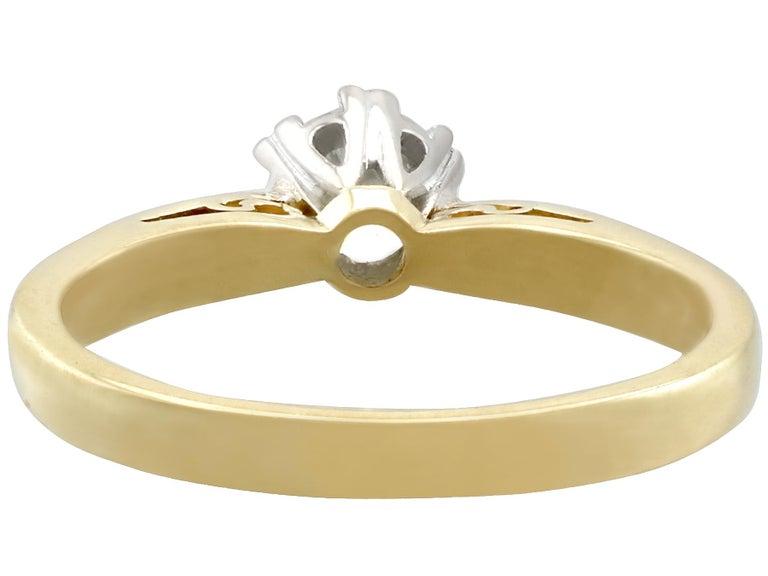 Women's Diamond and 18 Karat Yellow Gold Solitaire Engagement Ring