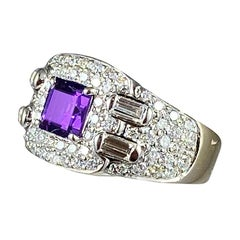 Hammerman Brothers Diamond and Amethyst Ring