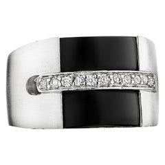 Hammerman Brothers Diamond and Black Onyx Ring