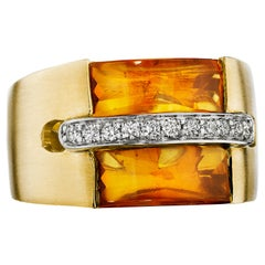 Hammerman Brothers Diamond and Citrine Ring