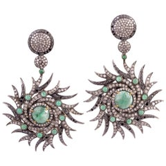 Diamond and Emerald Earring