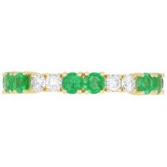 Diamond and Emerald Eternity Band