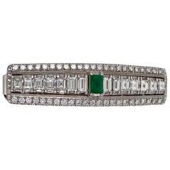 Diamond and Emerald Hair Pin